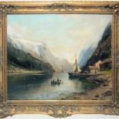 Los Nr. 279   A286 0279-Anders Askevold, Fjordlandschaft, Ölgemälde von 1894 Limit: € 600 Taxe: € 5000-6000