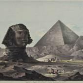 Faszination Ägypten - Giza. Sphinx und Cheops Pyramide von Südosten © Residenzgalerie Salzburg