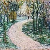Wladimir Georgiewitsch von Bechtejeff Parkweg mit Reiterin. 1905. Öl auf Leinwand 55 x 83,3 cm (21.6 x 32.7 in) Schätzpreis: € 150.000-250.000