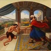 Ludwig Ferdinand Schnorr von Carolsfeld Die Heimkehr des verlorenen Sohnes Öl auf Leinwand, 1838 80 x 91 cm (31.4 x 35.8 in) Schätzpreis: € 70.000-90.000