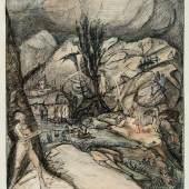 Alfred Kubin, Die Berg- und Talwelt, um 1910-12