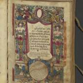 A manuscript, containing a prayer book of the 17th centry, beautiful scripted and richly decorated
