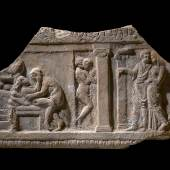 A Roman Terracotta Plaque with Brothel Scene, circa 1st Century A.D. (est. £20,000- 30,000)