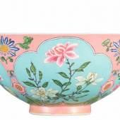 A Superbly Enamelled, Fine And Exceedingly Rare Pink-Ground Falangcai Bowl