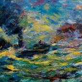 Emil Nolde (1867–1956) Segler im Wind, 1910, Öl auf Leinwand, 94 x 109 cm, Sammlung Rauert in der Hamburger Kunsthalle, © Hamburger Kunsthalle, Photo: Dirk Dunkelberg, Berlin