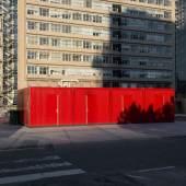 Abandoned construction containers behind Erasmus MC, Rotterdam. Photo: Loes van Duijvendijk.