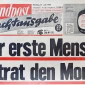 Abendpost Nachtausgabe 21. Juli 1969. Der erste Mensch betrat den Mond.