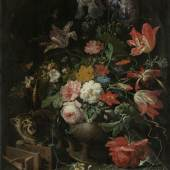 Abraham Mignon, De omvergeworpen ruiker, ca. 1660