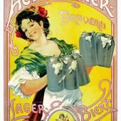 Actien-Bier um 1900, unbekannter Künstler  Foto Carlsberg Deutschland GmbH