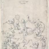 Albrecht Dürer, Affentanz. Amerbach-Kabinett Winkler-Dürer Nr. 927