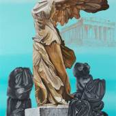 """Pino Lavecchia, Anthropology 5 Oil & Pastel on Canvas 51.5"""" x 35.5"""""""