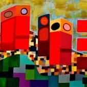 """J.H. Rebelato, E 206B Oil on Canvas 30"""" x 40"""""""