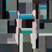 Rudolf Jahns (1896 — 1983): Akte im Raum (Komposition 24), 1924, Öl auf Leinwand, 91 x 79,5 cm, Sprengel Museum Hannover, Leihgabe Rudolf Jahns Stiftung, Foto: Aline Gwose/Alexander Herling, (c) VG Bild-Kunst, Bonn 2014