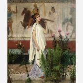 Daphne Alazraki (stand 362), Sir Lawrence Alma-Tadema (Dronrijp 1836-1912 Wiesbaden)  A Greek woman