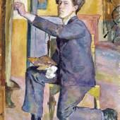 Alberto Giacometti, Selbstbildnis, 1921 Öl auf Leinwand, 82,5 x 70 cm Kunsthaus Zürich, Alberto Giacometti-Stiftung © 2015 Succession Alberto Giacometti/ProLitteris, Zürich
