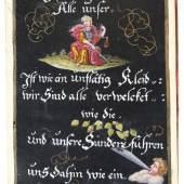 Album Amicorum. - Lauban (Oberlausitz). - Stammbuch des Buchbinders Johann Gottlieb Anton aus Lauben. Schätzpreis:2.000 EUR