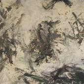 """Alfons Schilling, """"Ohne Titel"""", 1960, Mischtechnik, Gips und Sand auf Leinwand, 120 x 143 cm Neue Galerie Graz, UMJ, Foto: Universalmuseum Joanneum/N. Lackner"""