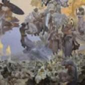 Alfons Mucha Slawisches Epos, Die Svantovit Feier auf der Insel Rügen, 1912 Eitempera auf Leinwand 610 x 810 cm Galerie hlavního města Prahy, Prag © Mucha Trust 2009
