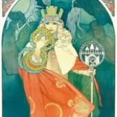 Alfons Mucha VI. Sokol Festival , 1912 Farblithografie 168 x 62 cm Moravská Galerie, Brünn © Mucha Trust 2009