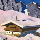 "Alfons Walde, ""Hof am Gebirge"", Gouache auf Papier, Kohlhammer & Mahringer"