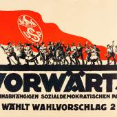 Alfred Dunkel, Wahlplakat der USPD 1919, Lithografie  Foto: SHMH/MHG