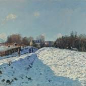 Alfred Sisley, Effet de neige à Louveciennes, oil on canvas, 1874 (est. £6,000,000-8,000,000)