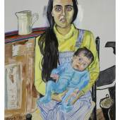 Alice Neel: Ginny and Elizabeth, 1975 Öl auf Leinwand, 106,7cm x 76,2 cm Photo: Ethan Palmer © Estate of Alice Neel