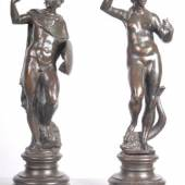Exhibitor: Altomani & Sons  A pair of bronzes representing the deities Venus and Mars by the Renaissance sculptor Tiziano Aspetti  Padua.  They are in fine condition with a beautiful patina.