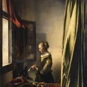 Johannes Vermeer, Brieflesendes Mädchen am offenen Fenster, um 1657-1659 © SKD; Foto: Klut / Estel