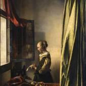 an Vermeer van Delft, Brieflesendes Mädchen am offenen Fenster, um 1659