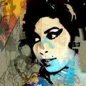 "Günter Edlinger (geb. 1958) ""Amy Winehouse"" Mischtechnik auf Leinwand, 110 x 100 cm rückseitig signiert, datiert 2012 (Galerie Morteveille)"
