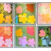 Andy Warhol (1928 – 1987)  Flowers | 1970 | Serie von 10 Farbserigrafien auf festem Papier | Jeweils: 91,5 x 91,5 cm  Ergebnis: 2.193.000 Euro* *Int. Auktionsrekord für diese Serie