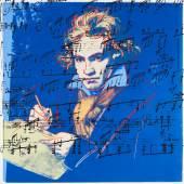 Andy Warhol (1928 – 1987) Beethoven | 1987 | Farbserigrafie auf Museumskarton | 102 x 102cm Ergebnis: 83.850 Euro Int. Auktionsrekord für diese Edition*