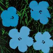 Andy Warhol Flowers 1964 Acrylic and silkscreen ink on canvas Estimate $2/3 million