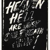 Andy Warhol, Heaven and Hell Are Just One Breath Away! (Negative), 1985-1986