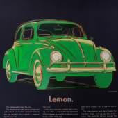 Andy Warhol, Volkswagen - Beetle - Lemon, 1985, Lithografie.