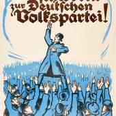 Anonym, Wahlwerbeplakat der Deutschen Volkspartei, 1919  Foto: SHMH/MHG