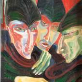 Werner Diedrich: Ohne Titel, 1929, Öl auf Leinwand, 60 x 45 cm, Privatsammlung