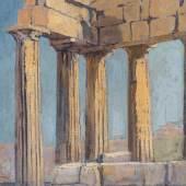 Antike Tempelruine, 1956   (c) Stiftung Bundeskanzler Adenauer Haus, Churchill Heritage Ltd.