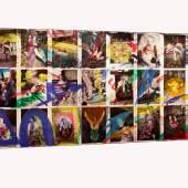NOBUYOSHI ARAKI Kinbaku Shamaki Japan, 2006 Collage of 53 gelatin silver prints, overpainted by the artist with acrylic paint each 56 x 46 cm Verso: numbered by the photographer in ink © Nobuyoshi Araki / WestLicht, Vienna