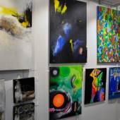 ((Bild ARTe 2016 Bilderwand 1, Bildnachweis: Messe Sindelfingen)): Eine faszinierende Vielfalt an junger zeitgenössischer Kunst: Die neu etablierte ARTe 2016 war ein großer Erfolg.