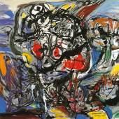 Asger Jorn, Bourdonnement, 1960, Öl auf Leinwand, 114 x 146 cm, Sammlung Selinka, © Donation Jorn, Silke- borg / VG Bild-Kunst, Bonn 2019, Foto: Thomas Weiss