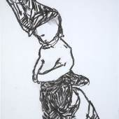 Martin Assig, Ohne Titel [Betende Frau], 1994, Kohle auf Papier, 59 x 42 cm, Stiftung Museum Kunstpalast, Düsseldorf, Hanck 877, © VG Bild-Kunst, Bonn 2012