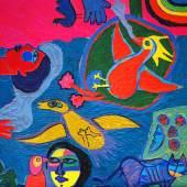 ATC galerie artkarrer Corneille La femme et oiseaux