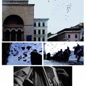 Bildlegende: Mihai Zgondoiu, FLIGHT. 20, 2009, Action Performance, Location: Revolution Square in Timisoara, Video, DVD / PAL, Duration: 03:48 min, Courtesy Mihai Zgondoiu