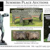 From Canoes to Chandeliers - Summers Place Auctions' October sale offers a wide range of quirky objects for the garden and home