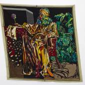 presented by WHATIFTHEWORLD, Cape Town     Athi-Patra Ruga The Versatile Ivy in Exile 2014 Wool and thread on tapestry canvas 200 x 200 cm