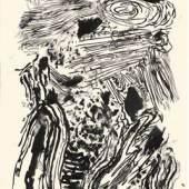 Max Weiler, Verwandlungen, 1957  Tusche 863 x 612 mm, Weiler100 Privatsammlung  © Yvonne Weiler
