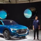 Audi e-tron quattro concept and Spotlights/ Humans since 1982, 2015/