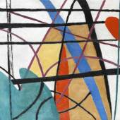 August Clüsserath (Fenne/Saar 1899-1966 Saarbrücken) Lineare Komposition, 1952, Schätzpreis:2.400 EUR